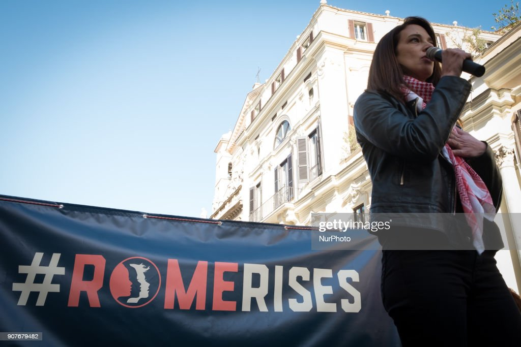 Women's March Rome 2018 : News Photo