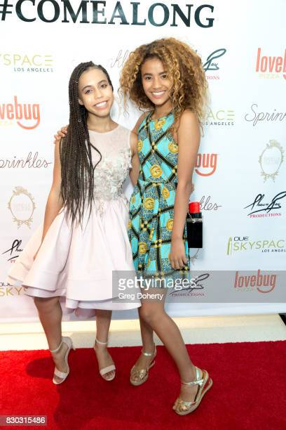 Actress Asia Monet and Dancer Kesh Kesh arrive for Asia Monet's 12th Birthday Party at OUE Skyspace LA on August 10 2017 in Los Angeles California