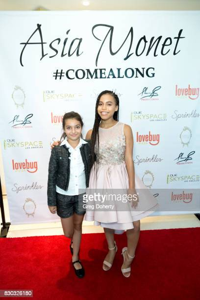 Actress Asia Monet and 'Isabella' Dilanyan arrive for Asia Monet's 12th Birthday Party at OUE Skyspace LA on August 10 2017 in Los Angeles California