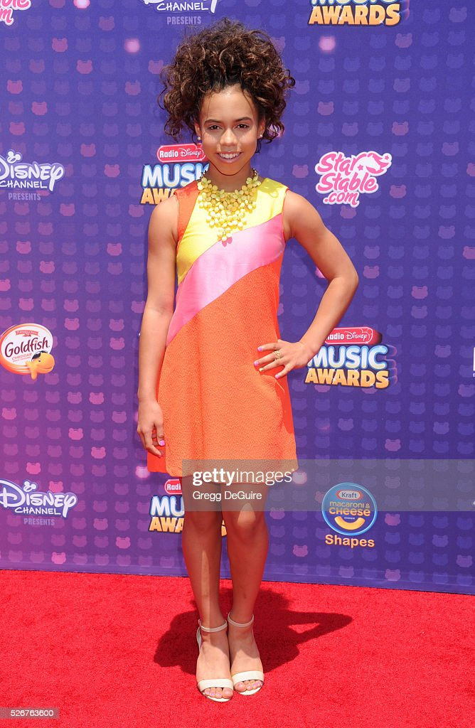 Actress Asia Monet Ray arrives at the 2016 Radio Disney Music Awards at Microsoft Theater on April 30, 2016 in Los Angeles, California.