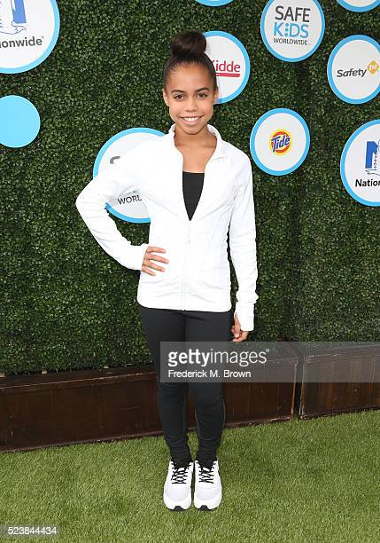 Actress Asia Monet Ray attends Safe Kids Day at Smashbox Studios on April 24 2016 in Culver City California