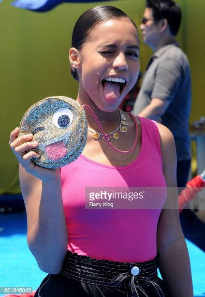 Actress Asia Monet Ray attends the premiere of Columbia Pictures and Sony Pictures 'The Emoji Movie' at Regency Village Theatre on July 23 2017 in...