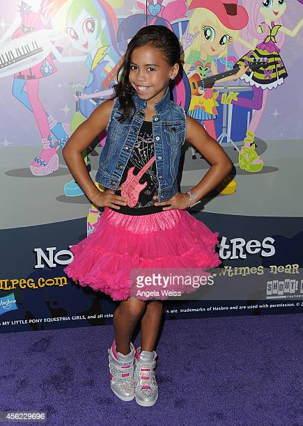 Actress Asia Monet Ray attends the premiere of Hasbro Studios' 'My Little Pony Equestria Girls Rainbow Rocks' at TCL Chinese 6 Theatres on September...