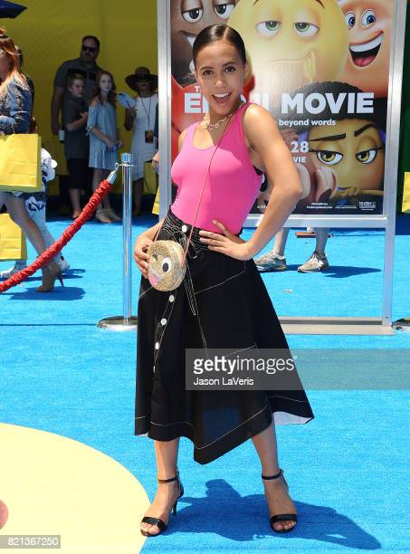 Actress Asia Monet Ray attends the premiere of 'The Emoji Movie' at Regency Village Theatre on July 23 2017 in Westwood California