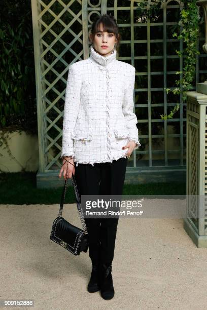 Actress Astrid Berges attends the Chanel Haute Couture Spring Summer 2018 show as part of Paris Fashion Week on January 23 2018 in Paris France