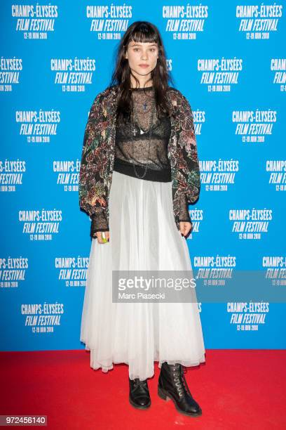 Actress Astrid BergesFrisbey attends the 7th Champs Elysees Film Festival at Cinema Gaumont Marignan on June 12 2018 in Paris France