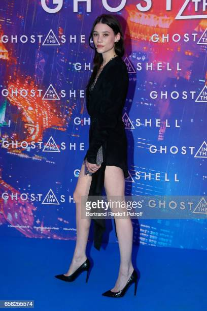 Actress Astrid BergesFrisbey attends the Paris Premiere of the Paramount Pictures release 'Ghost in the Shell' Held at Le Grand Rex on March 21 2017...