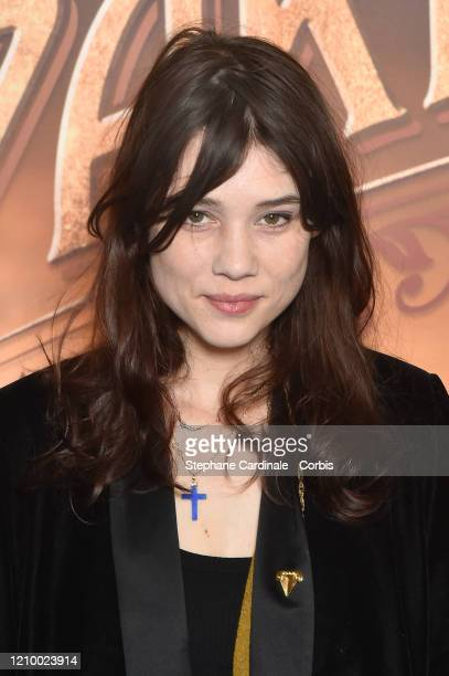 Actress Astrid BergesFrisbey attends the Une Sirene A Paris premiere at Cinema Max Linder on March 02 2020 in Paris France