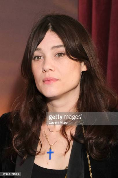 Actress Astrid BergèsFrisbey attends the Une Sirene A Paris premiere at Cinema Max Linder on March 02 2020 in Paris France