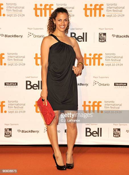 Actress Athena Karkanis arrives at the Toronto International Film Festival opening night party held at the Liberty Grande on September 10 2009 in...