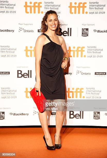 Actress Athena Karkanis attends the Opening Night Party at Liberty Grande during the 2009 Toronto International Film Festival on September 10 2009 in...