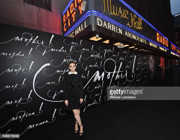 Actress attends the New York premiere of 'mother' at Radio City Music Hall onSeptember 13 2017 in New York New York