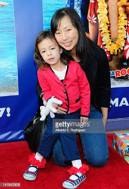 Actress Aubrey AndersonEmmons and comedian Amy Anderson attend Twentieth Century Fox Home Entertainment's 'Alvin and the Chipmunks Chipwrecked'...