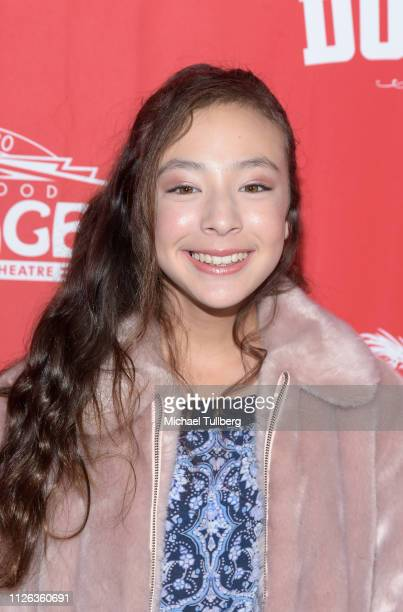 Actress Aubrey AndersonEmmons attends the Los Angeles premiere of the musical Hello Dolly at the Pantages Theatre on January 30 2019 in Hollywood...