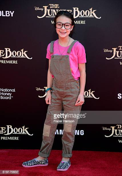 Actress Aubrey AndersonEmmons attends the premiere of Disney's The Jungle Book at the El Capitan Theatre on April 4 2016 in Hollywood California
