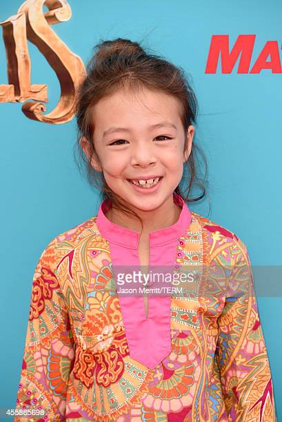 Actress Aubrey AndersonEmmons attends the premiere of Focus Features' The Boxtrolls Red Carpet at Universal CityWalk on September 21 2014 in...