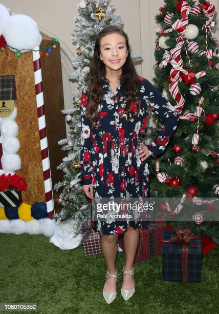 Actress Aubrey AndersonEmmons attends the the Brooks Brothers annual holiday celebration in Los Angeles to Benefit St Jude at the Beverly Wilshire...
