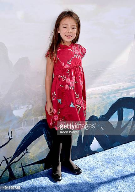 Actress Aubrey AndersonEmmons attends the World Premiere of Disney's Maleficent at the El Capitan Theatre on May 28 2014 in Hollywood California