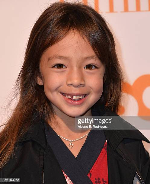 Actress Aubrey AndersonEmmons attends USA Network's Modern Family fan appreciation day at Westwood Village on October 28 2013 in Los Angeles...