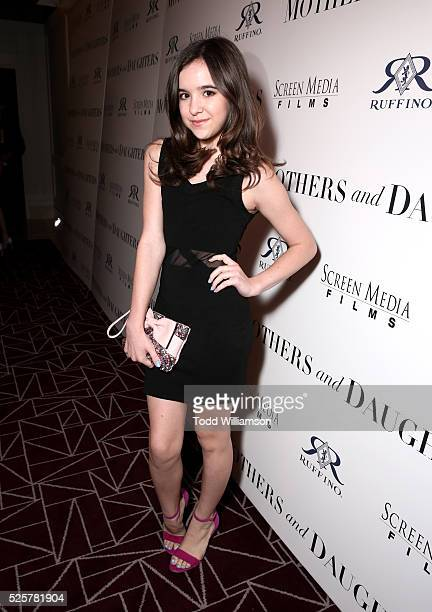 Actress Aubrey K Miller attends the Los Angeles Premiere of Screen Media Film's Mothers And Daughters at The London on April 28 2016 in West...