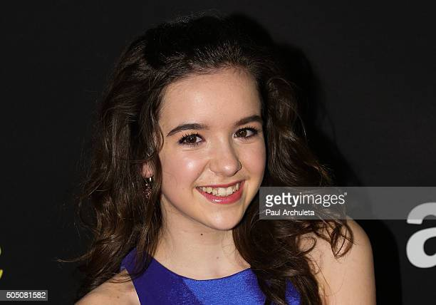 Actress Aubrey K Miller attends the premiere of Amazon's Just Add Magic at The ArcLight Hollywood on January 14 2016 in Hollywood California