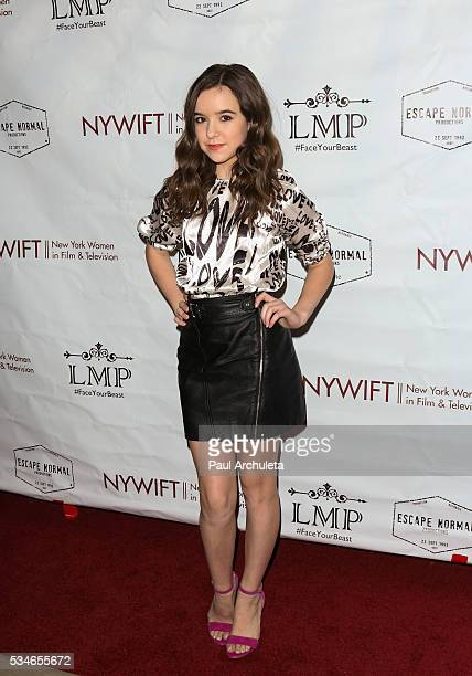 Actress Aubrey K Miller attends the screening of Little Miss Perfect at The TCL Chinese Theatre on May 26 2016 in Hollywood California