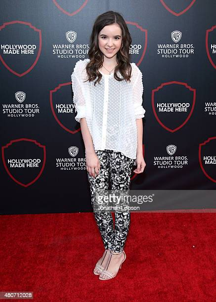 Actress Aubrey K Miller attends the Warner Bros Studio Tour Hollywood Expansion Official Unveiling Stage 48 Script To Screen at Warner Bros Studios...