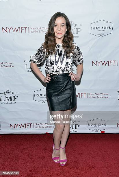 Actress Aubrey Miller attends a screening of the film Little Miss Perfect at TCL Chinese Theatre on May 26 2016 in Hollywood California
