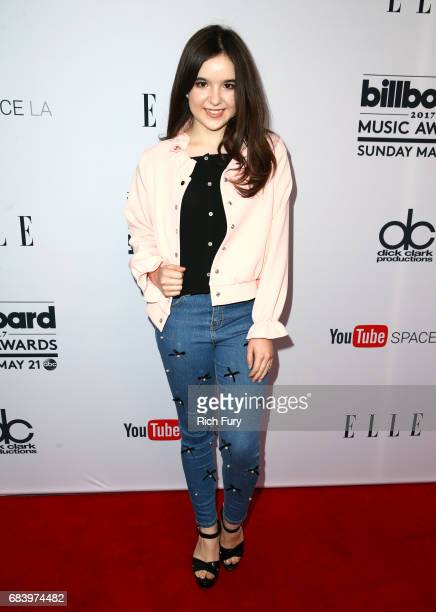 Actress Aubrey Miller attends the '2017 Billboard Music Awards' And ELLE Present Women In Music At YouTube Space LA at YouTube Space LA on May 16...
