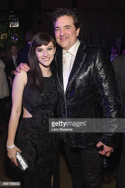 Actress Aubrey Peeples and President and CEO of the Big Machine Label Group Scott Borchetta attend as Big Machine Label Group celebrates The 49th...