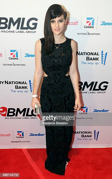 Actress Aubrey Peeples attends as Big Machine Label Group celebrates The 49th Annual CMA Awards at Rosewall on November 4, 2015 in Nashville,...