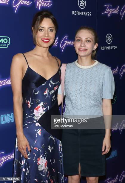 Actress Aubrey Plaza and writer/actress Tavi Gevinson attend The New York premiere of Ingrid Goes West hosted by Neon at Alamo Drafthouse Cinema on...