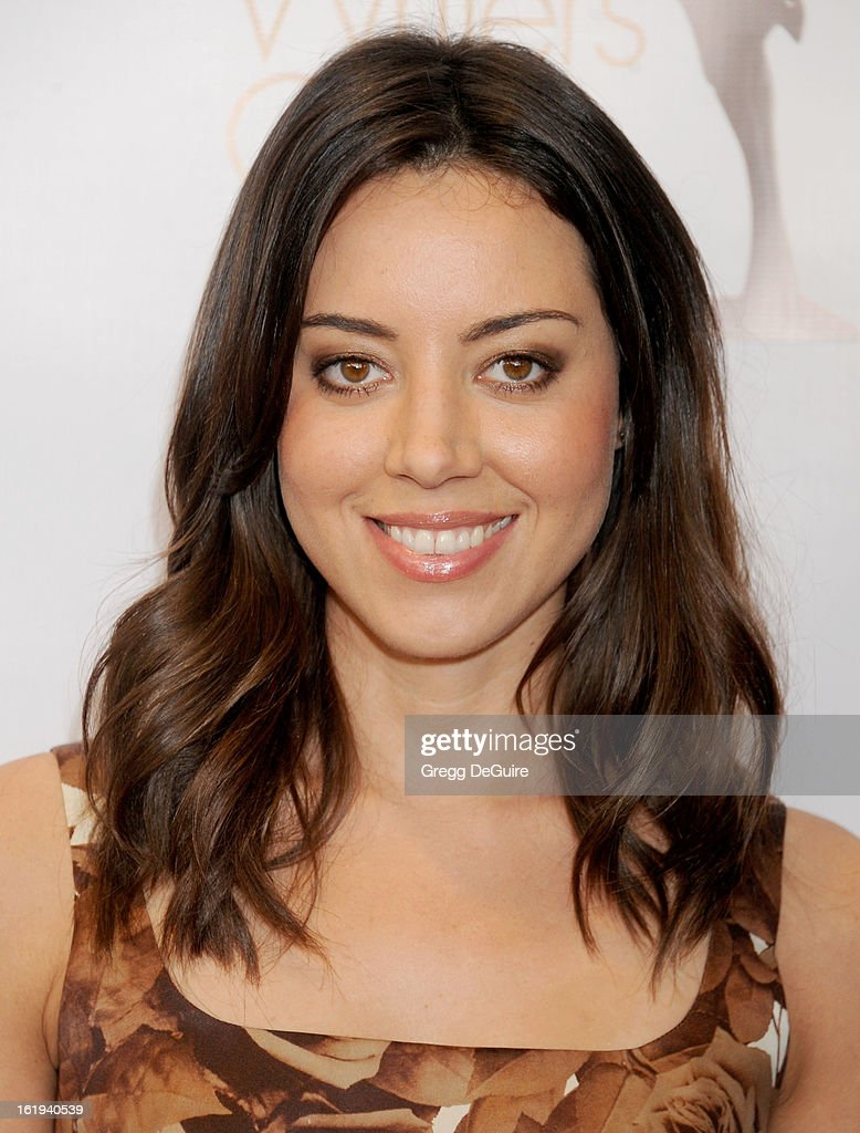 Actress Aubrey Plaza arrives at the 2013 Writers Guild Awards at JW Marriott Los Angeles at L.A. LIVE on February 17, 2013 in Los Angeles, California.
