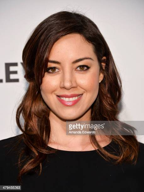 Actress Aubrey Plaza arrives at the 2014 PaleyFest Parks And Recreation event at The Dolby Theatre on March 18 2014 in Hollywood California