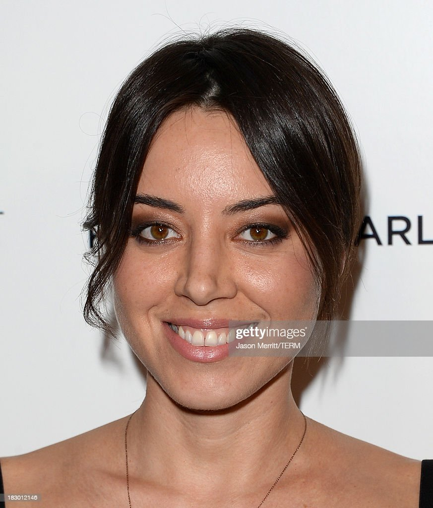 Actress Aubrey Plaza arrives at the premiere of Sony Pictures Classics' 'Kill Your Darlings' at Writers Guild Theater on October 3, 2013 in Beverly Hills, California.