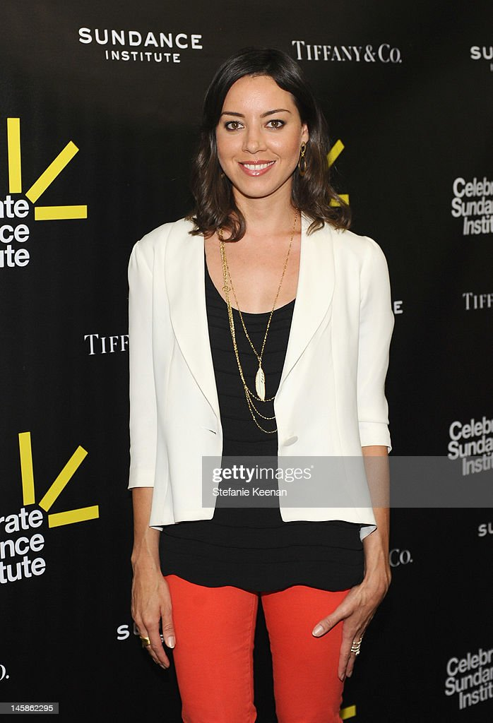 Actress Aubrey Plaza arrives at the Sundance Institute Benefit presented by Tiffany & Co. in Los Angeles held at Soho House on June 6, 2012 in West Hollywood, California.