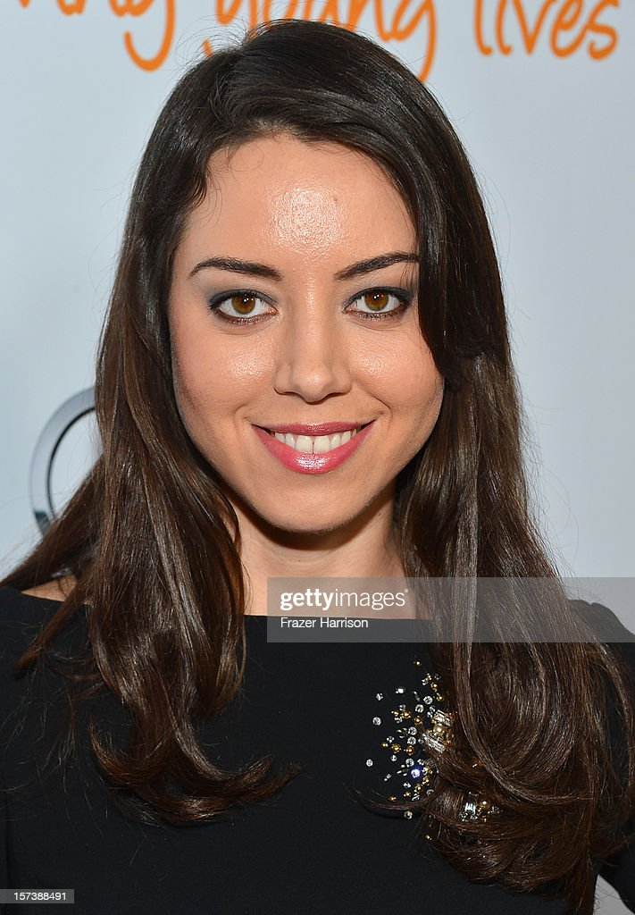 Actress Aubrey Plaza arrives at 'Trevor Live' honoring Katy Perry and Audi of America for The Trevor Project held at The Hollywood Palladium on December 2, 2012 in Los Angeles, California.