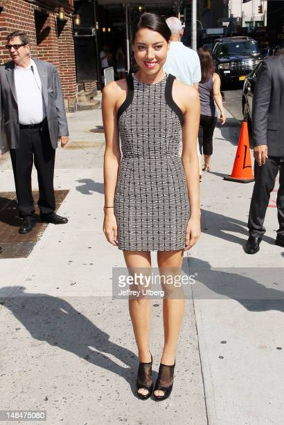 Actress Aubrey Plaza arrives to 'Late Show with David Letterman' at Ed Sullivan Theater on July 17 2012 in New York City