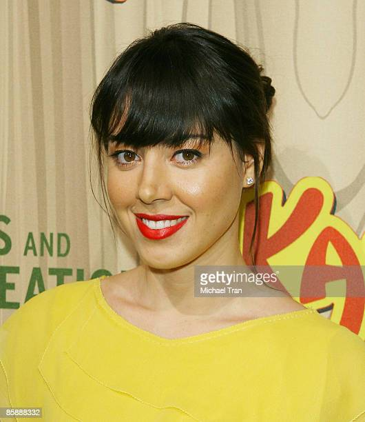 Actress Aubrey Plaza arrives to the Los Angeles premiere of NBC's new show Parks and Recreation held at MyHouse on April 9 2009 in Hollywood...