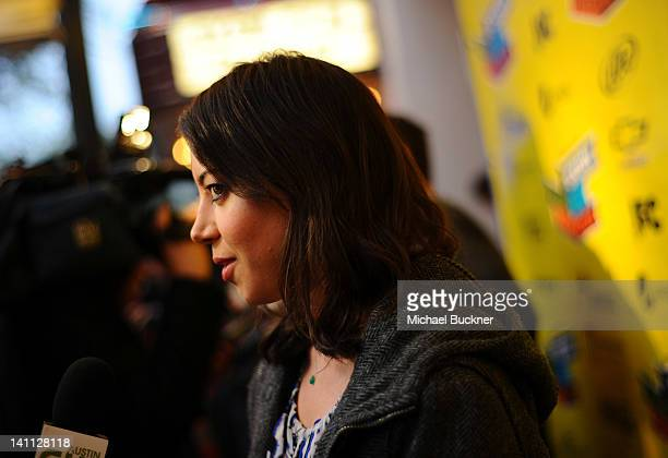 Actress Aubrey Plaza arrives to the premiere of Safety Not Guaranteed during the 2012 SXSW Music Film Interactive Festival at the Paramount Theatre...