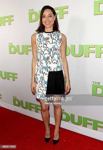 Actress Aubrey Plaza attends a special Los Angeles fan screening of THE DUFF on February 12 2015 in Los Angeles California