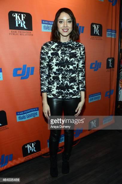 Actress Aubrey Plaza attends Kari Feinstein Style Lounge on January 19 2014 in Park City Utah