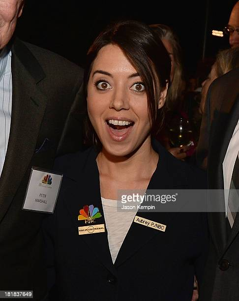Actress Aubrey Plaza attends NBC's 80th Page Program Anniversary Celebration at Universal Studios Hollywood on September 25, 2013 in Universal City,...