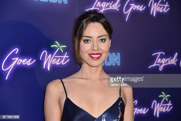 """Actress Aubrey Plaza attends Neon hosts the New York Premiere of """"Ingrid Goes West"""" at Alamo Drafthouse Cinema on August 8, 2017 in New York City."""