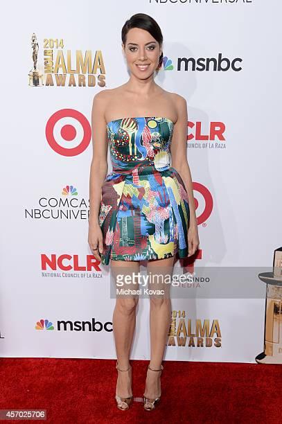 Actress Aubrey Plaza attends the 2014 NCLR ALMA Awards at the Pasadena Civic Auditorium on October 10 2014 in Pasadena California