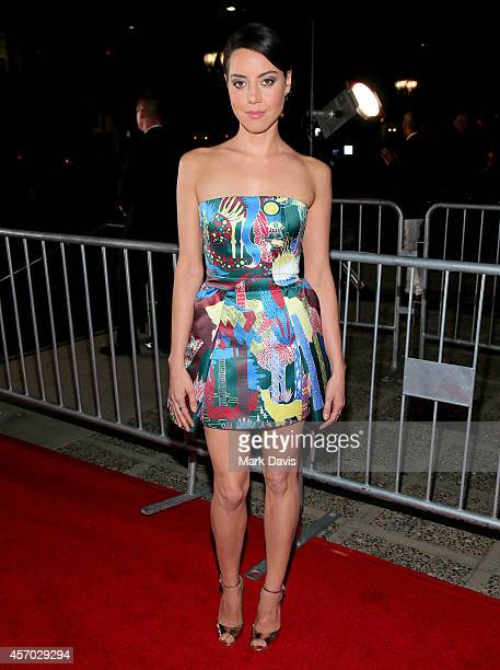 Actress Aubrey Plaza attends the 2014 NCLR ALMA Awards at the Pasadena Civic Auditorium on October 10 2014 in Pasadena California