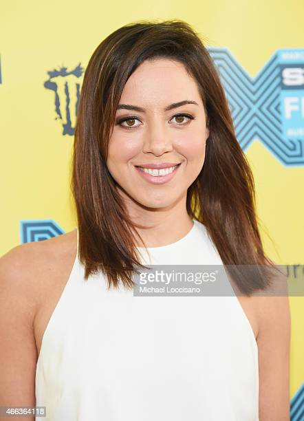 Actress Aubrey Plaza attends the 'Fresno' premiere during the 2015 SXSW Music Film Interactive Festival at Topfer Theatre at ZACH on March 14 2015 in...