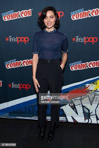 Actress Aubrey Plaza attends the FX Networks presents Legion press room during 2016 New York Comic Con at the Jacob Javitz Center on October 9 2016...