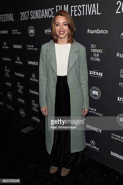 Actress Aubrey Plaza attends the 'Ingrid Goes West' premiere during day 2 of the 2017 Sundance Film Festival at Library Center Theater on January 20...