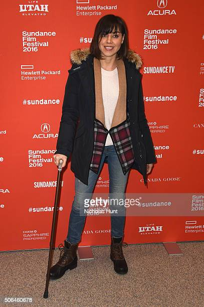 Actress Aubrey Plaza attends the 'Manchester By The Sea' Premiere during the 2016 Sundance Film Festival at Eccles Center Theatre on January 23 2016...